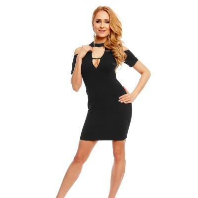 Kleid mit ausgeschnittener Schulterpartie