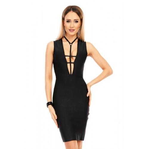 Kleid mit tiefen Ausschnitt