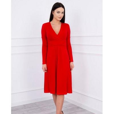 Midi-Kleid mit V-Ausschnitt