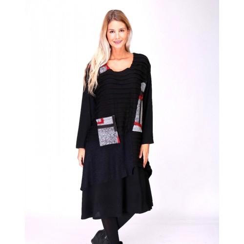 Patchwork Kleid aus Wolle