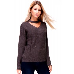 Pullover mit Choker